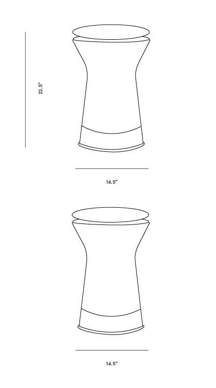 Dimensions for Warren Stool