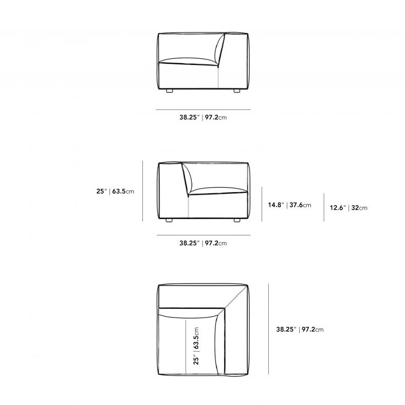 Dimensions for Porter Corner