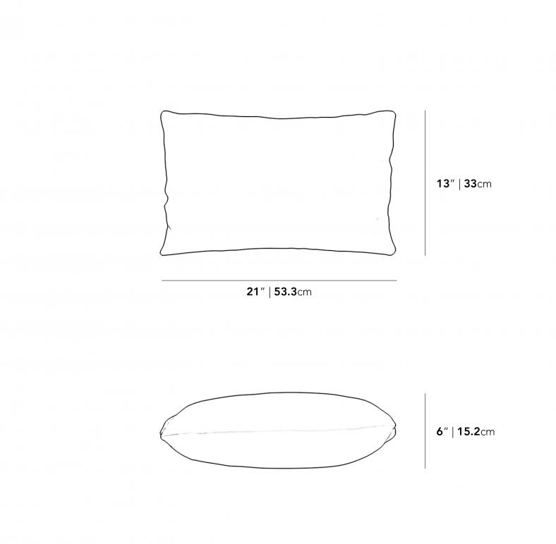 Dimensions for Rectangular Throw Pillow