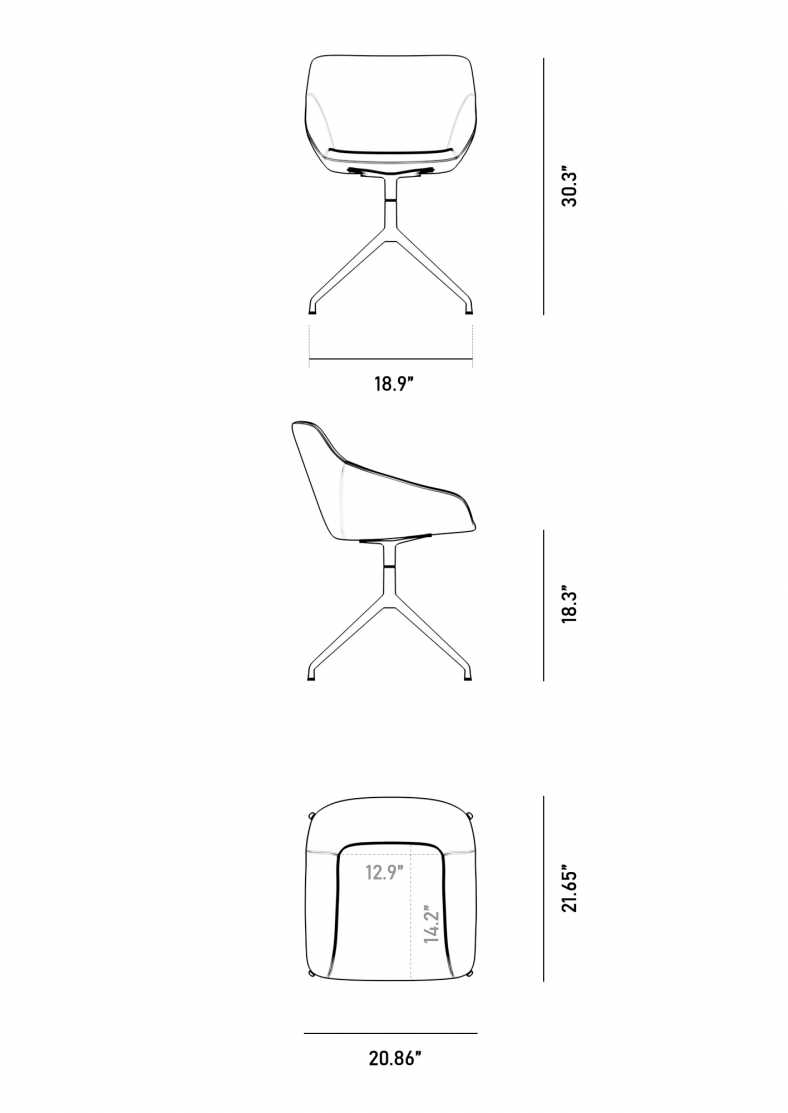 Dimensions for Rocco Dining Chair
