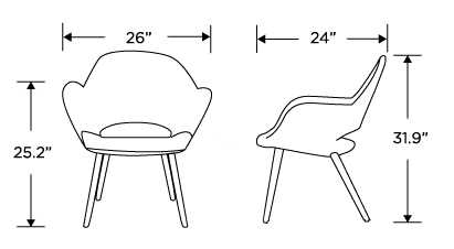 Dimensions for Executive Armchair