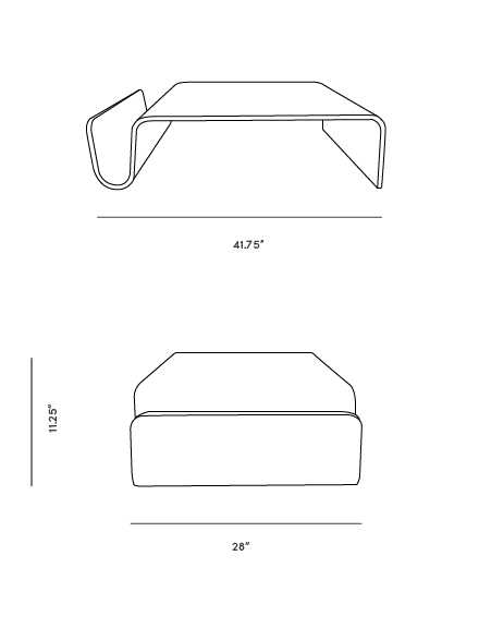 Dimensions for Scando Coffee Table