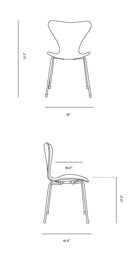 Dimensions for Series 7 Chair
