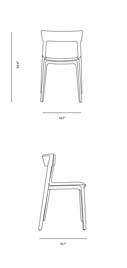 Dimensions for Skin Chair