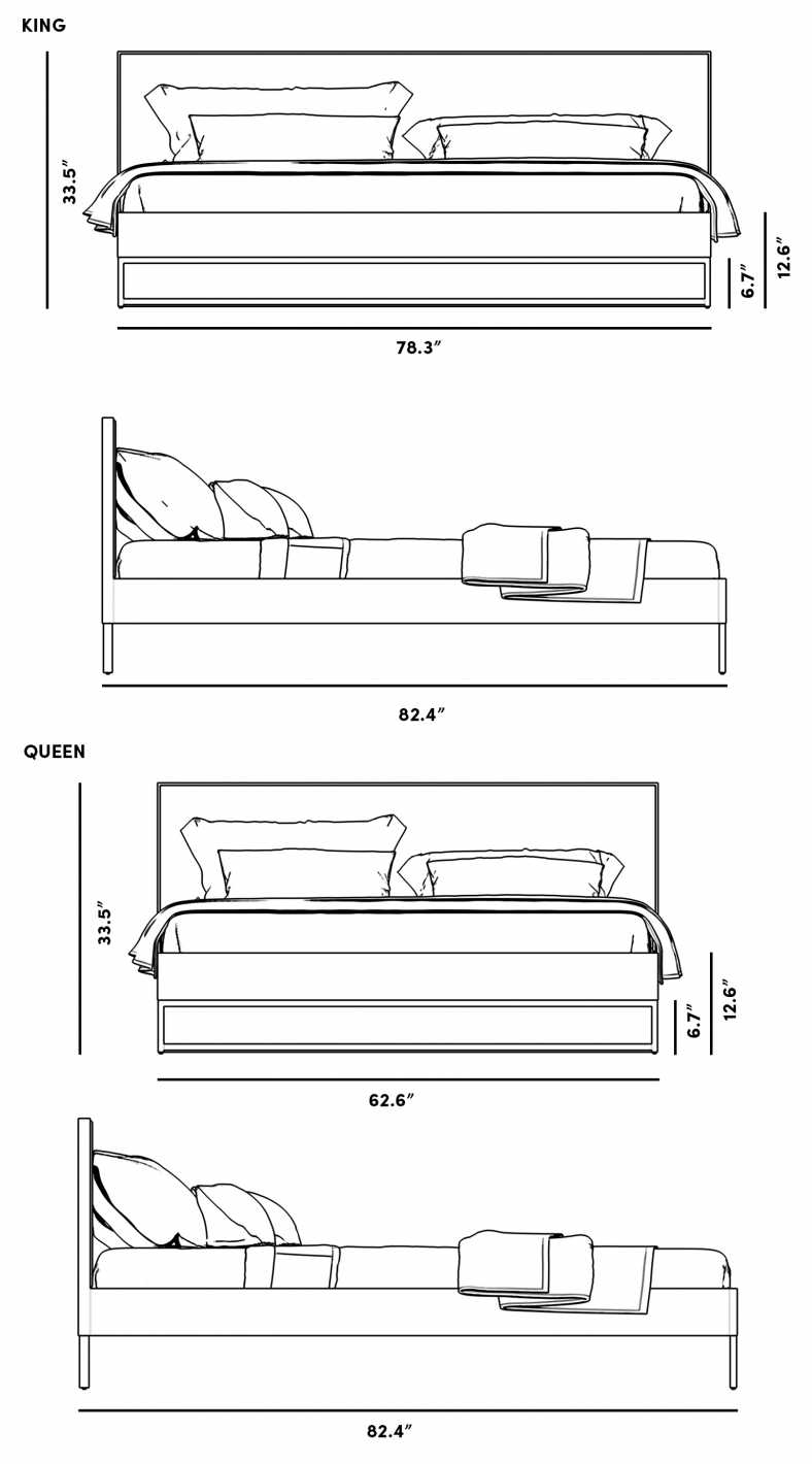 Dimensions for Soren Bed