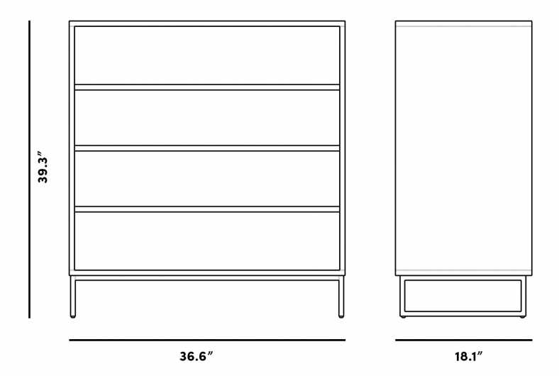 Dimensions for Soren Dresser