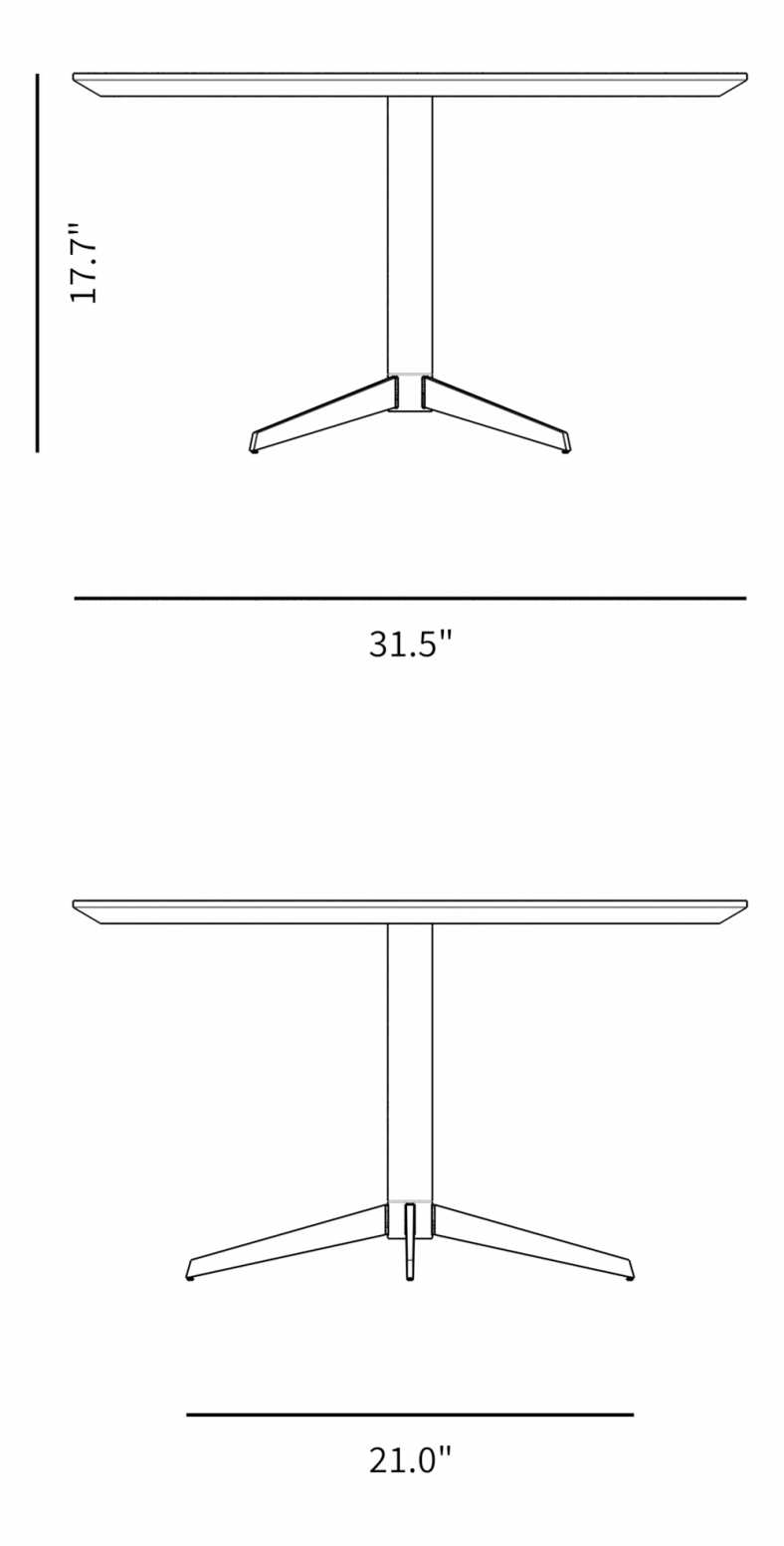 Dimensions for Sten Coffee Table
