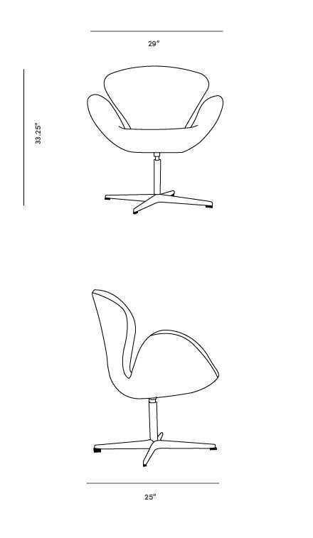 Dimensions for Swan Chair