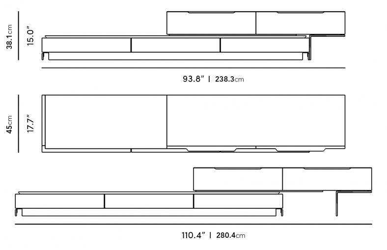 Dimensions for Truman Media Console