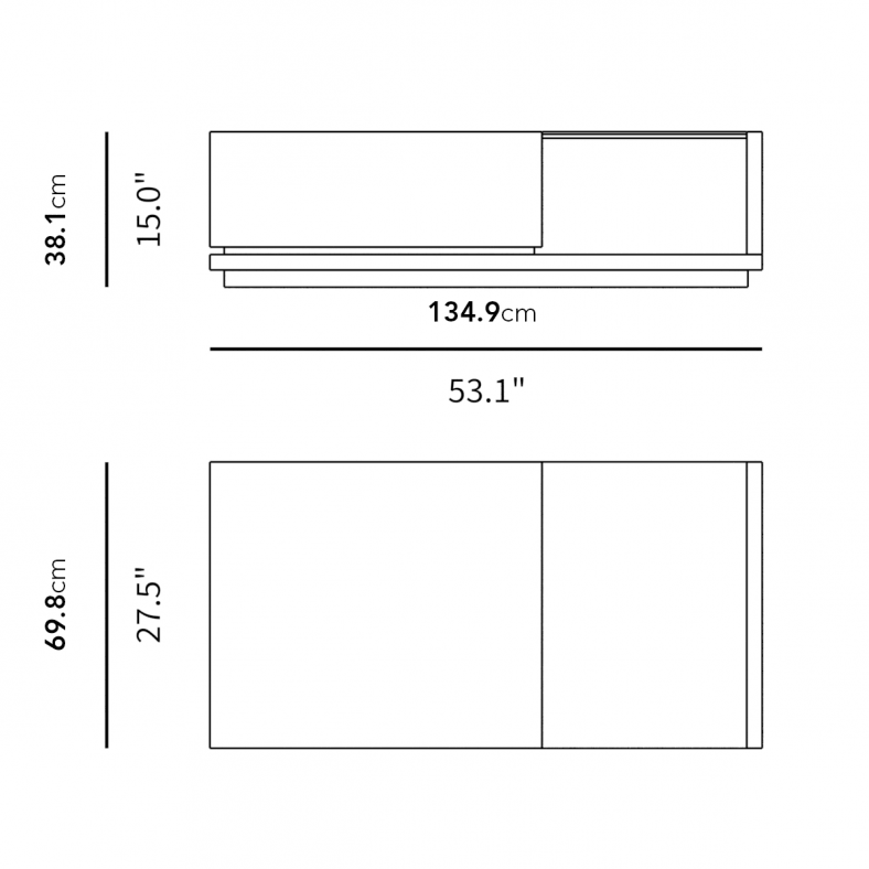 Dimensions for Truman Coffee Table