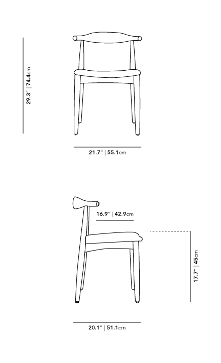 Dimensions for Elbow Chair