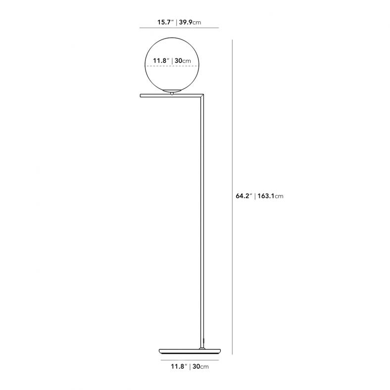 Dimensions for Iris Floor Lamp