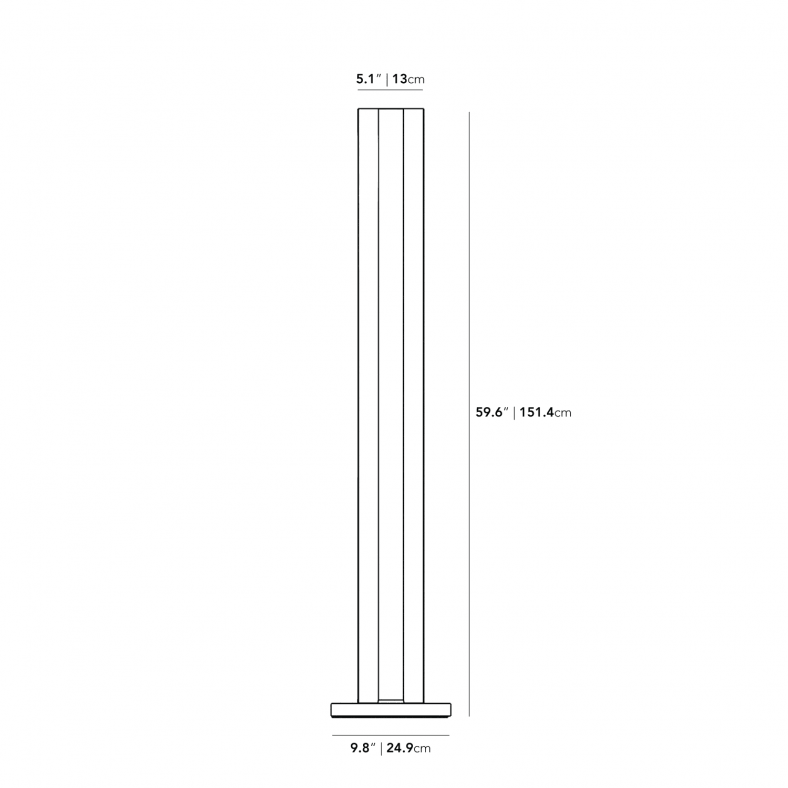 Dimensions for Roma Floor Lamp