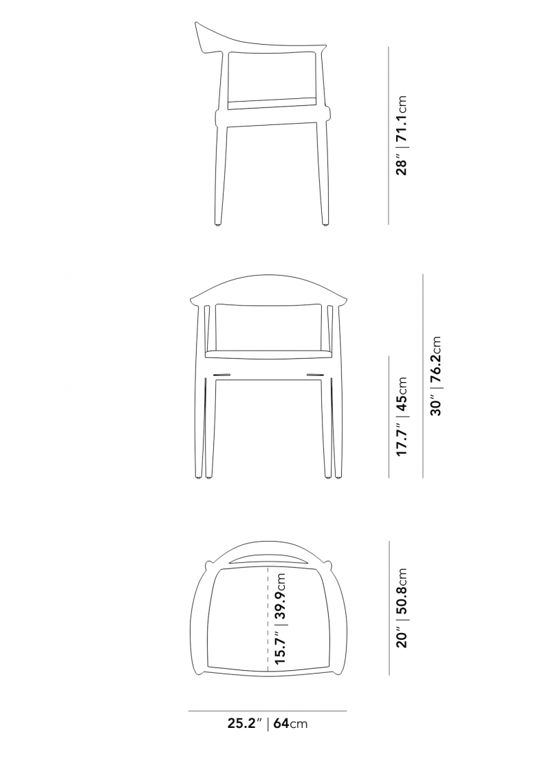 Dimensions for Round Chair