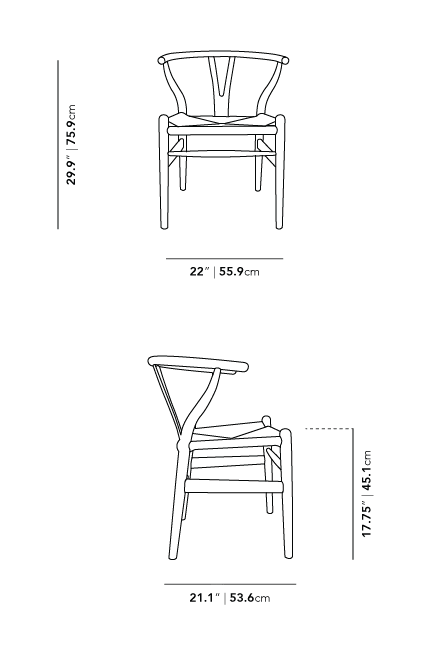 Dimensions for Wishbone Chair 2021
