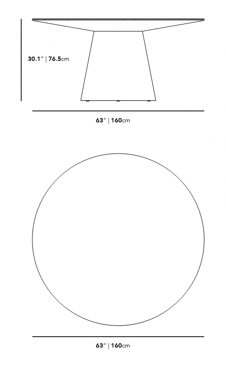 """Dimensions for Winston Dining Table - 63"""""""