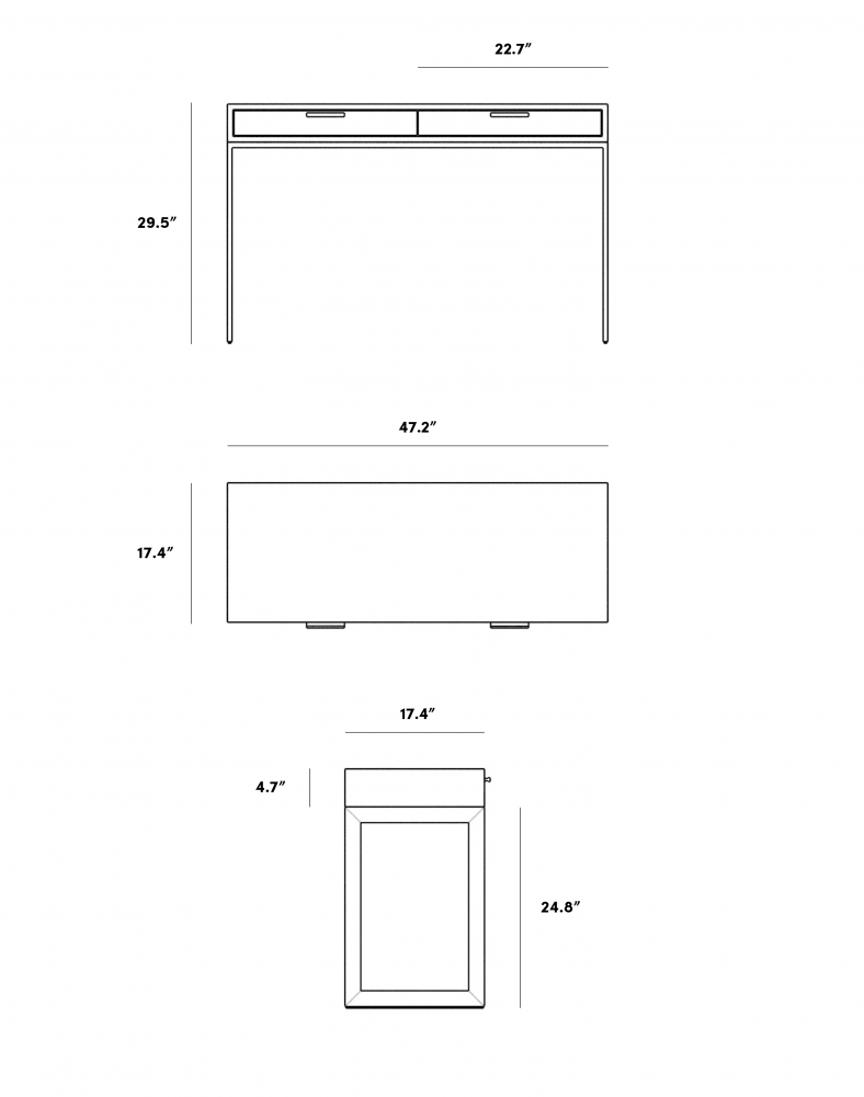 Dimensions for Vera Desk