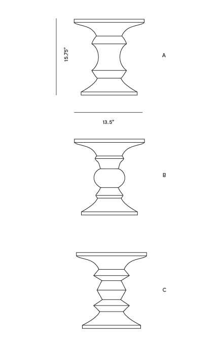 Dimensions for Walnut Stool