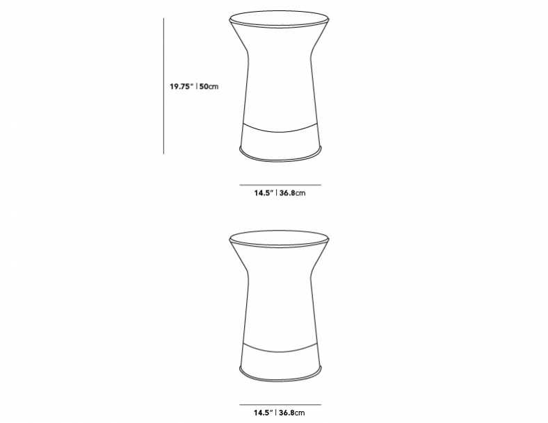 Dimensions for Warren Side Table