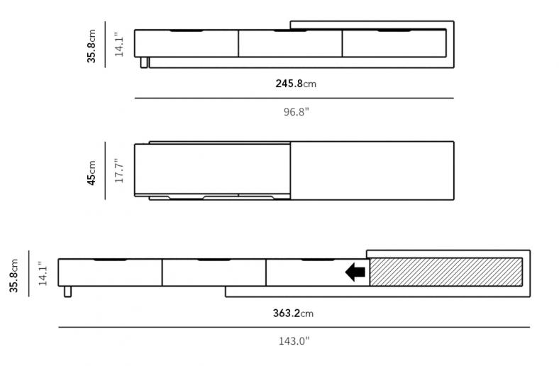 Dimensions for Winston Media Console