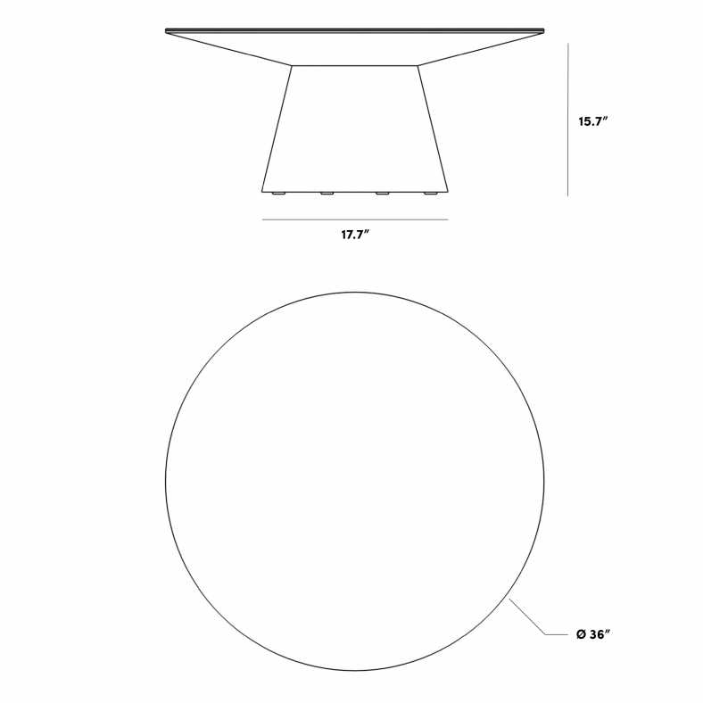 Dimensions for Winston Coffee Table