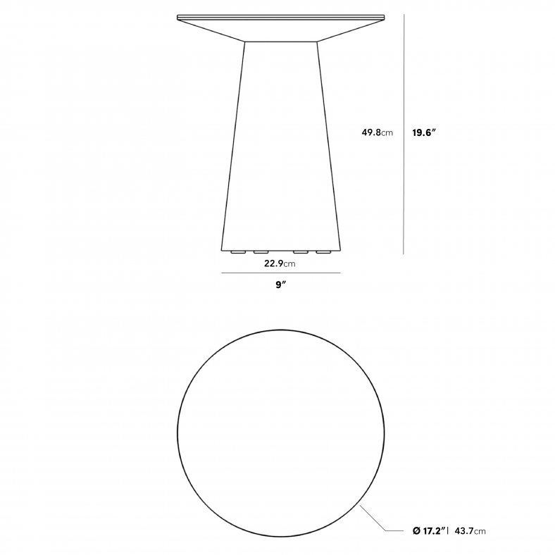 Dimensions for Winston Side Table