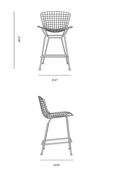 Dimensions for Wire Barstool