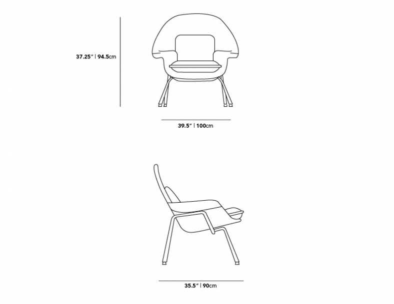 Dimensions for Womb Chair