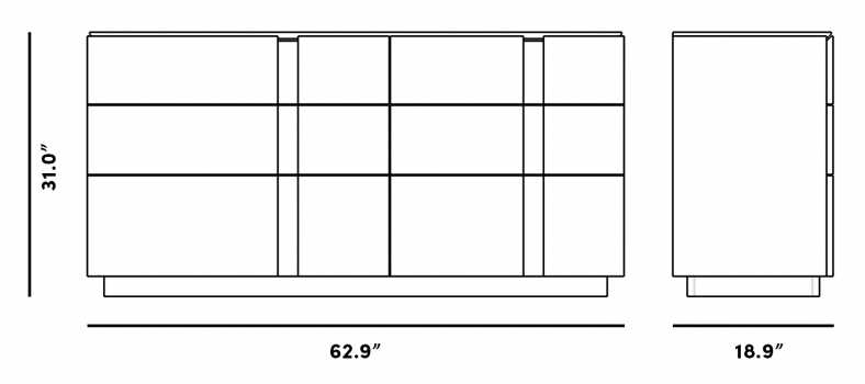 Dimensions for Xander Wide Dresser