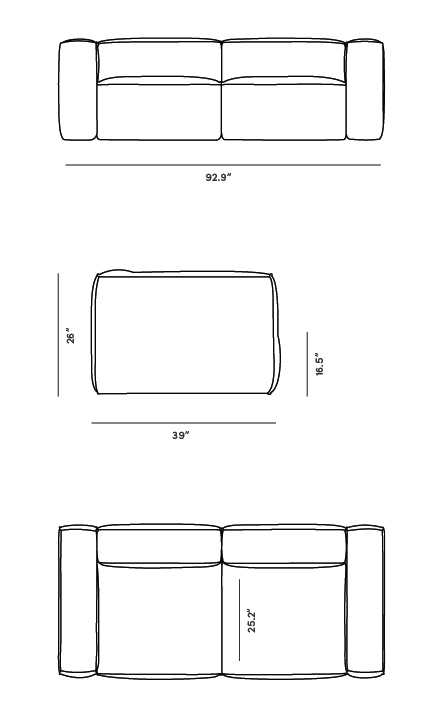 Dimensions for Marlowe Sofa