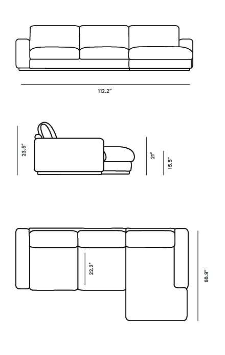 Dimensions for Noah Sectional