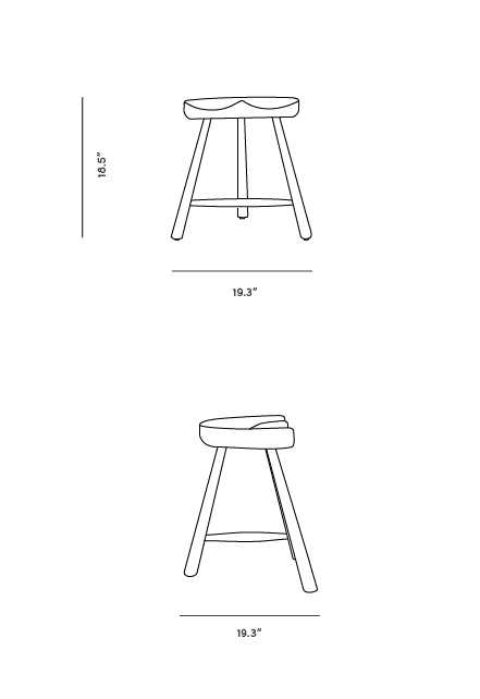 Dimensions for Shoemaker Chair