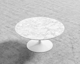 Tulip Coffee Table Round Mid Century Modern Reproduction