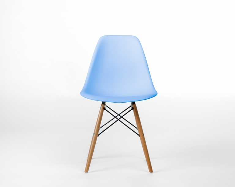 dsw molded plastic side chair wooden dowel base  dsw  modern chair. rove classics