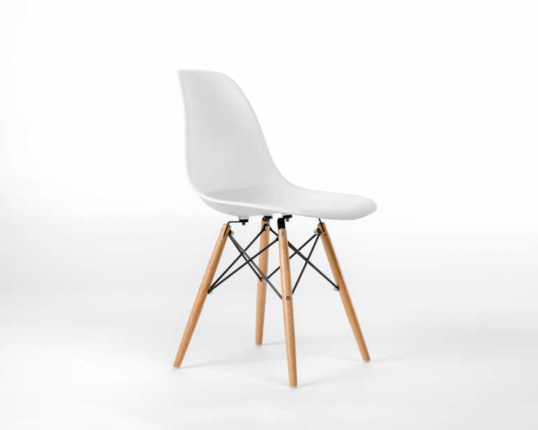 Beau ... Plastic Side Chair Wooden Dowel Base. Rove Classics