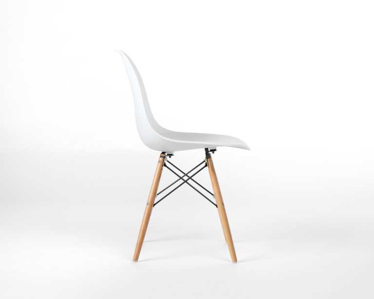 ... Plastic Side Chair Wooden Dowel Base. Rove Classics
