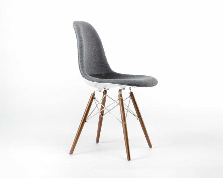 DSW Chair Upholstered Fiberglass Mid Century Modern