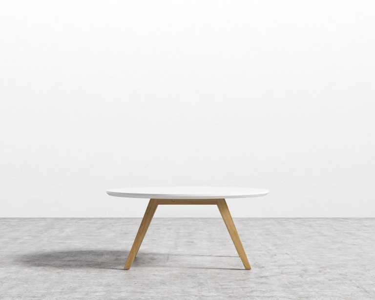 Dolf Round Coffee Table Mid Century Modern Scandinavian