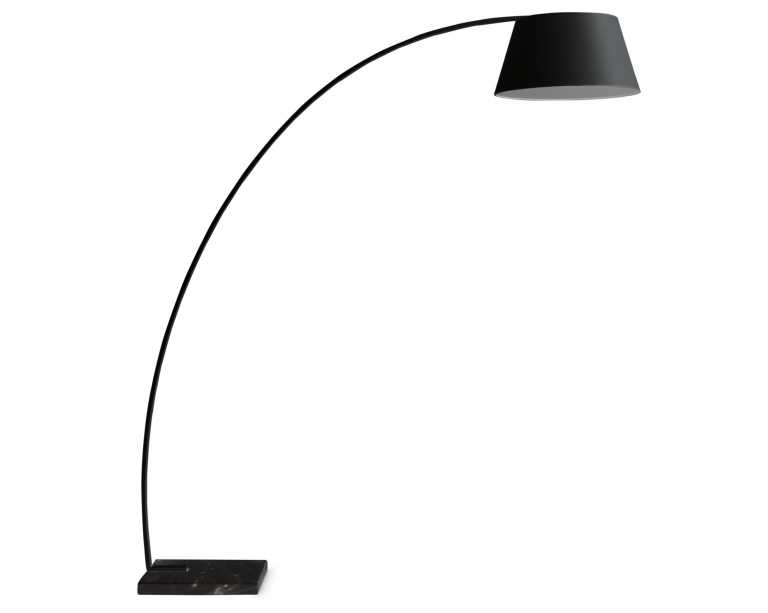 arc floor lamp  black  mid century modern -  arc floor lamp  black kure