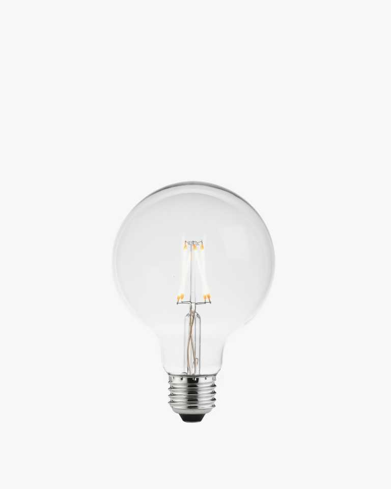 LED Vintage Edison Light Bulb - Round - Clear