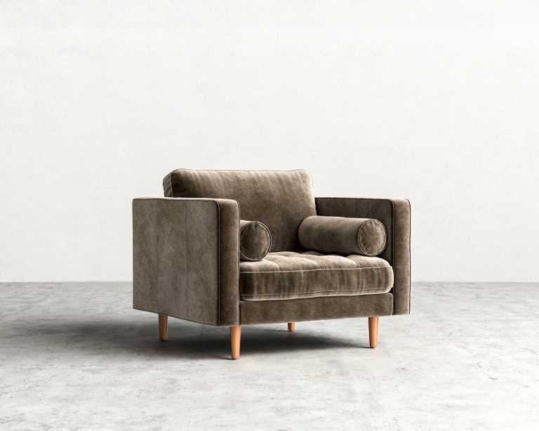 luca armchair  midcentury modern armchair  rove concepts - sandro