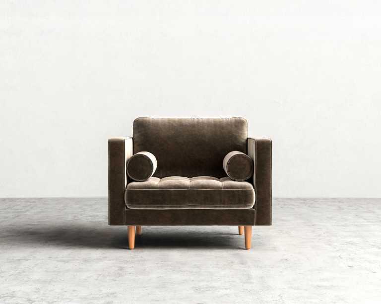 Luca Armchair Mid Century Modern Armchair Rove Concepts