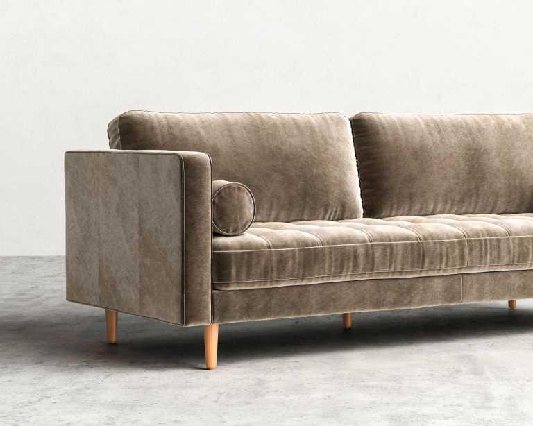 Vintage velvet sofa furniture cool velvet couch to adorn for Vintage velvet sectional sofa