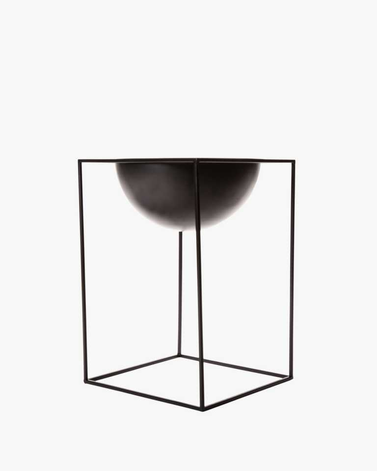 Metal Planter - Black Large