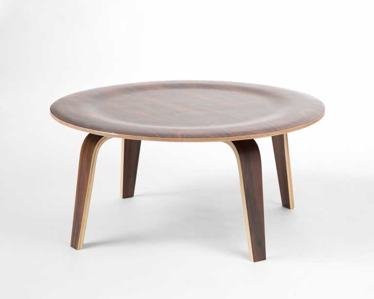 molded plywood coffee table | reproduction | mid-century modern