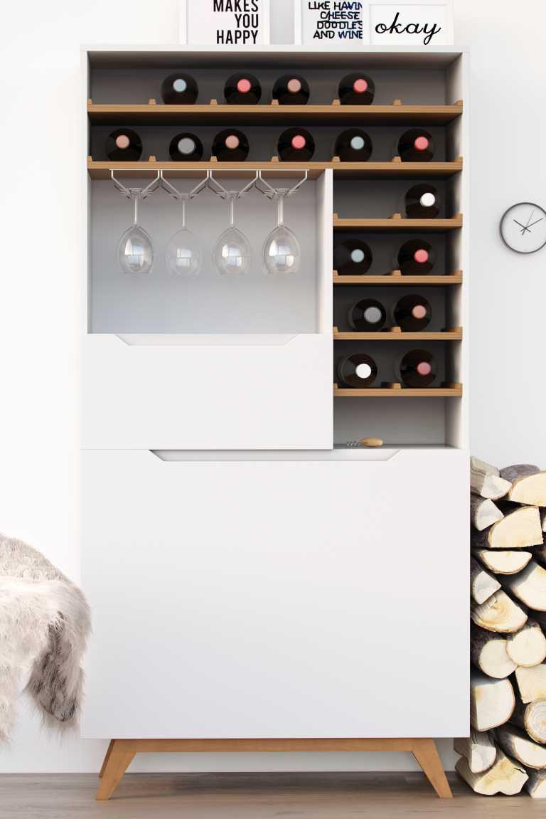 Wine Racks For Kitchen Cabinets Nilsson Wine Shelf Mid Century Modern Kure Collection