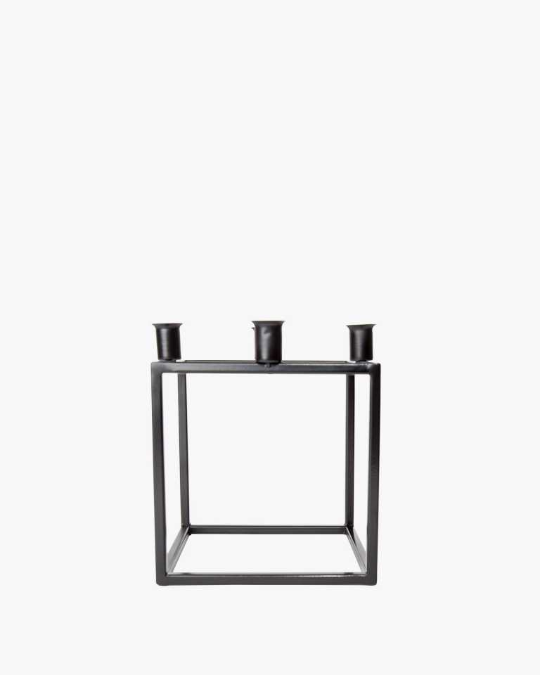 Quad Metal Candle Holder - Black