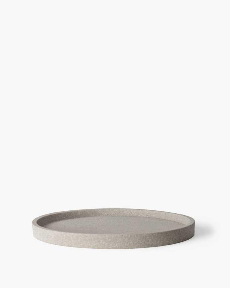 Round Concrete Tray - Natural Grey