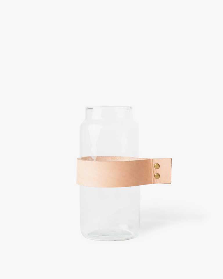 Strapped Glass Vase - Medium
