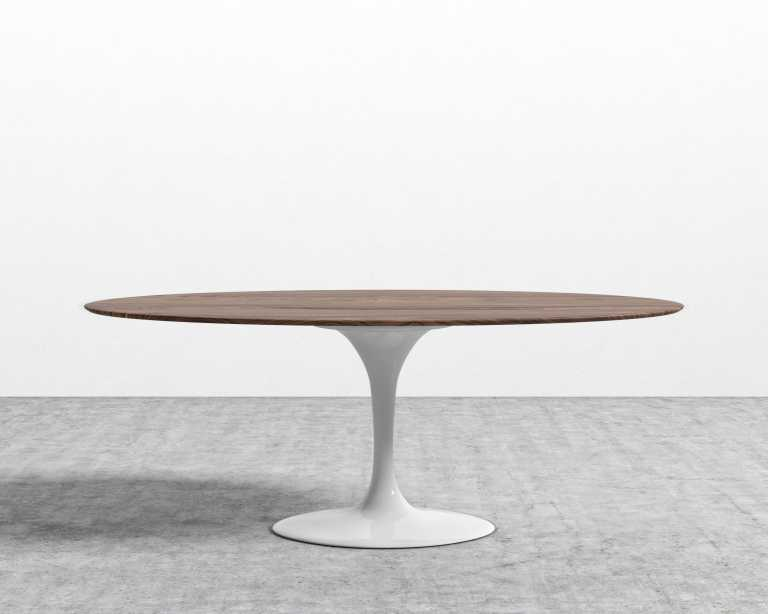 Tulip Table Oval Walnut Rove Concepts